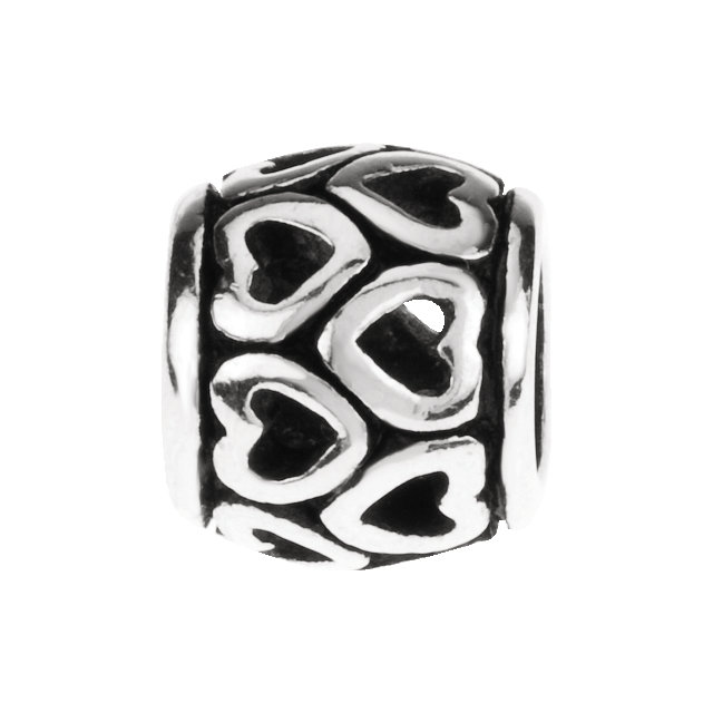 Sterling Silver 8 mm Heart Spacer Bead