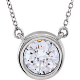 Bezel Set Solitiare Necklace