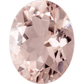 Oval Genuine Peach Morganite