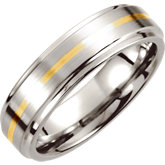 Ridged Band with Inlay & Satin Finish