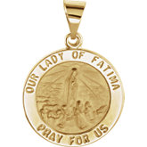 Hollow Our Lady of Fatima Medal