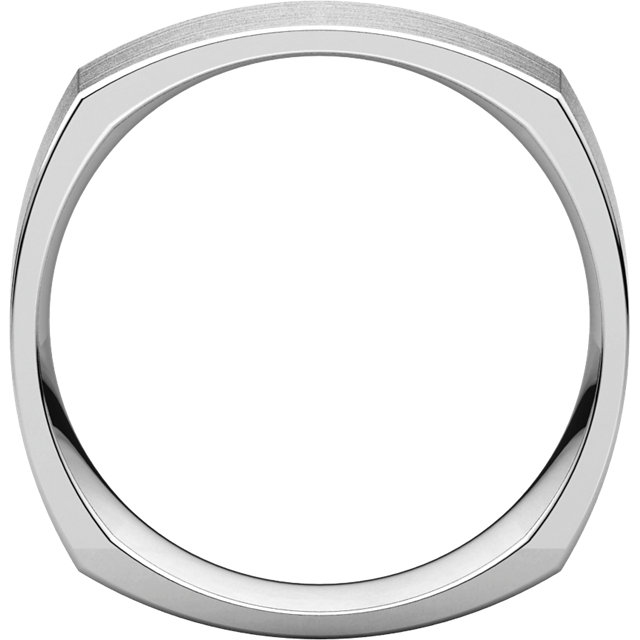 Sterling Silver 6mm Square Comfort Fit Band