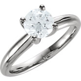 Comfort-Fit 4-Prong Solitaire Engagement Ring