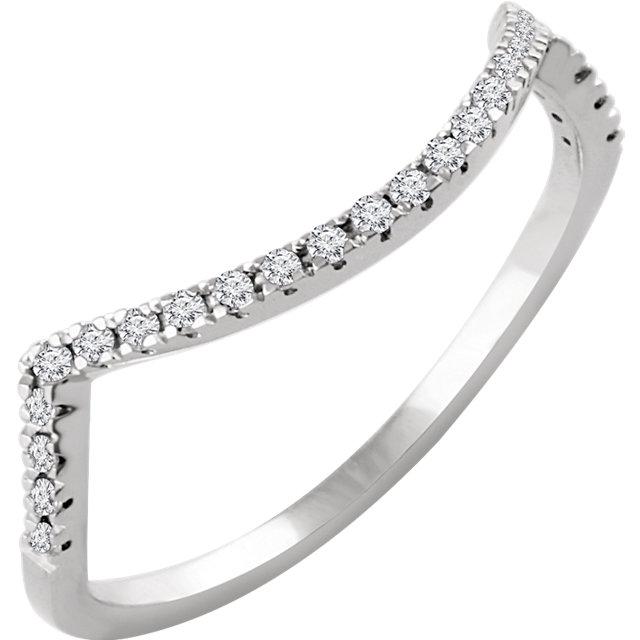 14K White 1/6 CTW Diamond Band for 6.5mm Ring