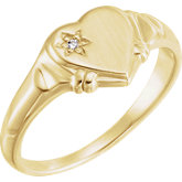 Youth Diamond Heart Ring