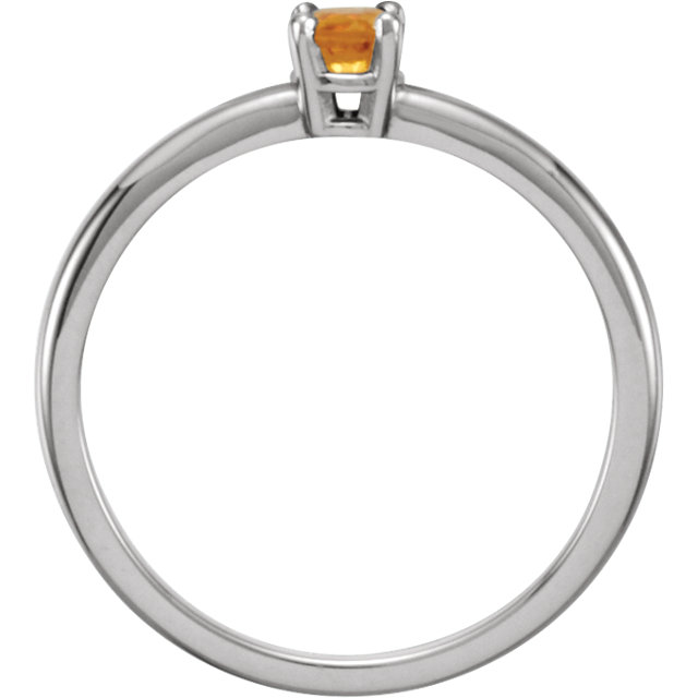 Sterling Silver Imitation Citrine