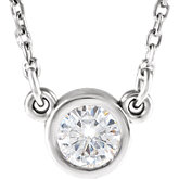 Charles & Colvard Moissanite® Bezel Set Necklace