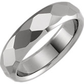 Faceted Beveled Edge Band