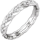 Sculptural-Inspired Engagement Ring or Eternity Band