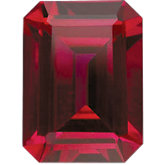 Emerald/Octagon Imitation Ruby