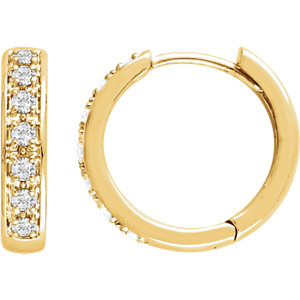 14K Yellow 1/3 CTW Diamond Earrings