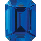 Emerald/Octagon Lab Created Blue Sapphire
