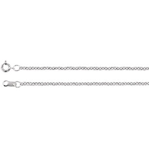 Necklace / Chain , 1.5mm Solid Cable Chain