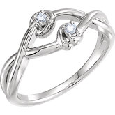Accented Double Knot Ring