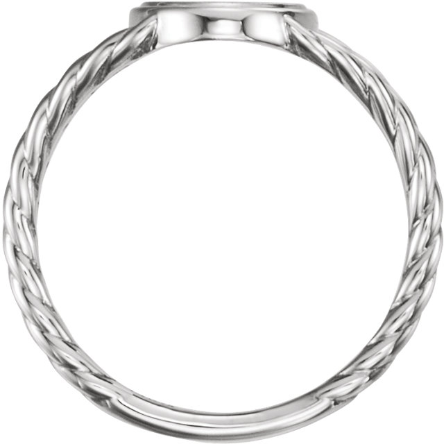 Sterling Silver Signet Rope Ring