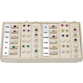 Sterling Silver 36 Piece Halo-Style Birthstone Ensemble Selling System