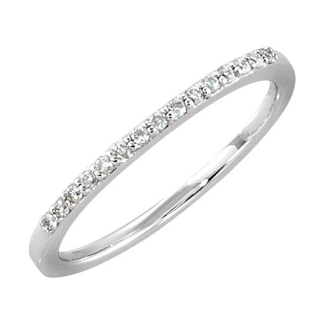 14K White 1/8 CTW Diamond Anniversary Band Size 7