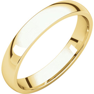 18K Yellow 3.5 mm Lightweight Comfort-Fit Band