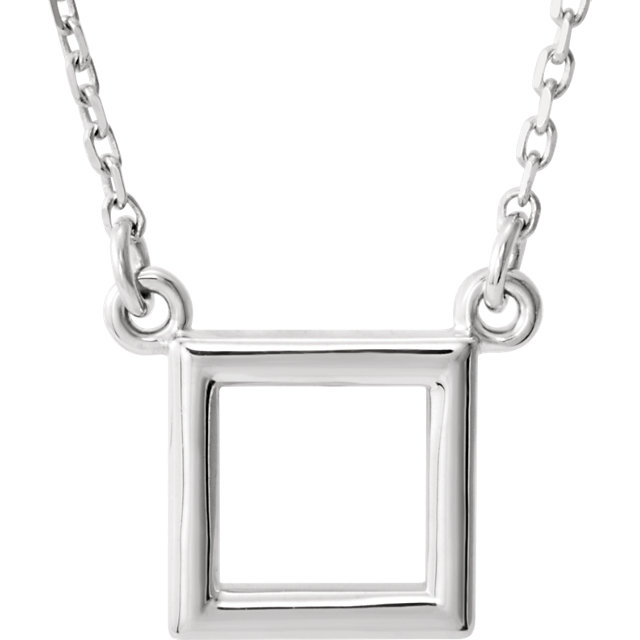 Sterling Silver Square 16.5