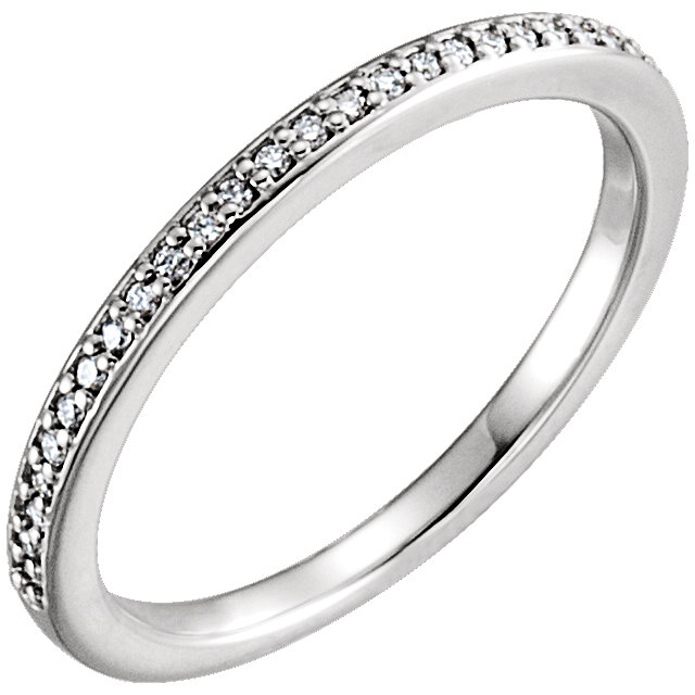 Platinum 1/8 CTW Diamond Band