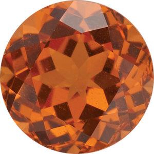 Garnet Round 0.35 carat Orange Photo