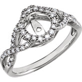 Twist-Style Engagement Ring Base or Band
