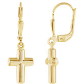 Cross Lever Back Earrings