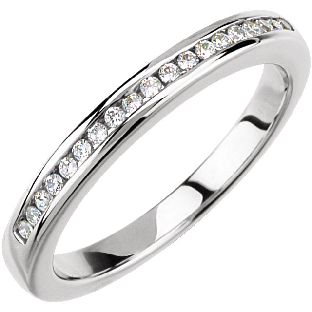 14K White 1/5 CTW Diamond Band for 4.8mm Engagement Ring
