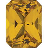 Emerald/Octagon Lab Created Yellow Sapphire