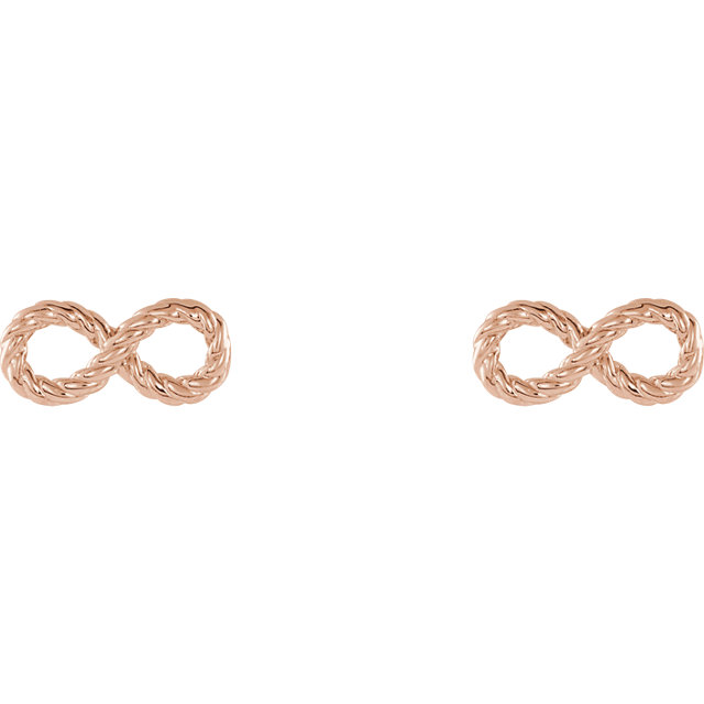 14K Rose Infinity-Inspired Rope Earrings
