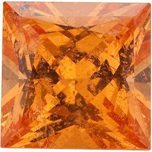 Garnet Square 0.30 carat Orange Photo