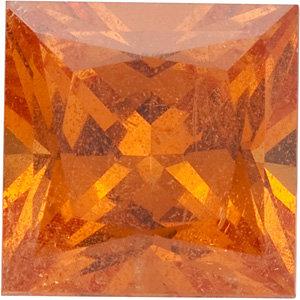 Garnet Square 0.40 carat Orange Photo