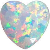 Heart Imitation White Opal