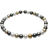Round/Near Round Graduated Multicolor Cultured Pearl Strands