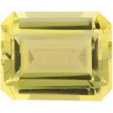Emerald/Octagon Genuine Lemon Quartz