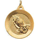 Praying Hands Medal