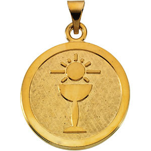Sterling Silver 23mm Blessed Sacrament Pendant Medal