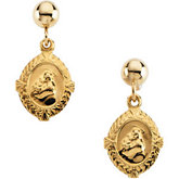 St. Anthony Medal Earrings