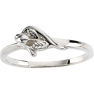 Sterling Silver The Unblossomed Rose® Ring Size 6