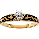 6-Prong Cross Solitaire Engagement Ring or Band