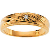 Cross Design Solitaire Engagement Ring or Band