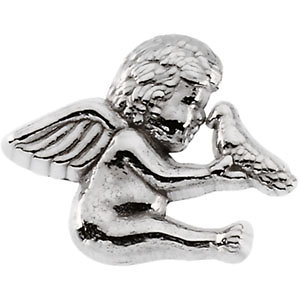 Brooche, Pin , Cherub & Dove Lapel Pin