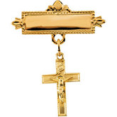 Crucifix Baptismal Pin