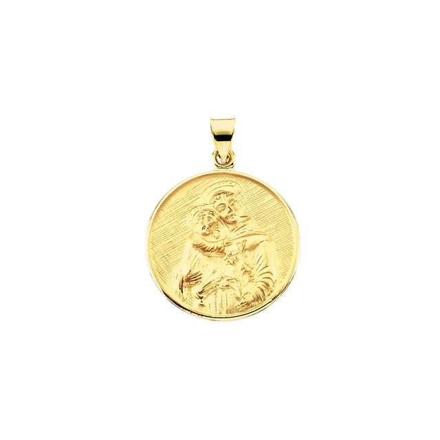 18K Yellow 13 mm St. Anthony of Padua Medal