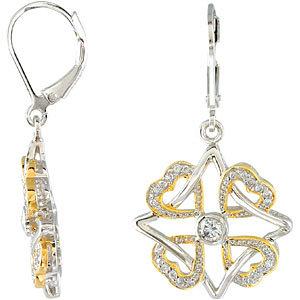 Sterling Silver Faith Family Friends & Love Earrings
