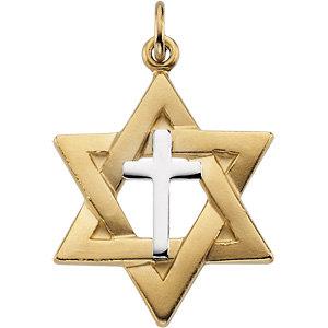 Star of david pendant with cross stuller aloadofball Gallery