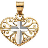 Heart & Cross Pendant