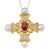 Fancy Cross Necklace or Pendant