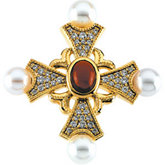 Fancy Cross Brooch/Pendant