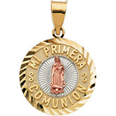 Tri-Color Mi Primera Comunion (First Holy Communion) Medal